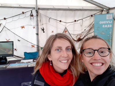NWT Engagement Officer Isabelle Mudge (L) with Seasonal Engagement Officer Georgie Lake (R)
