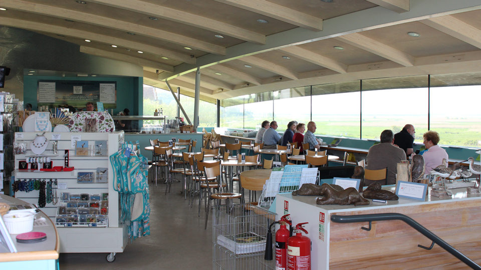 Cafe at NWT Cley Marshes, photo by Barry Madden