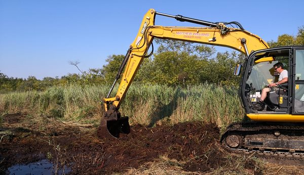 Floating digger provides next stage of fen restoration