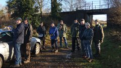 2019-12-15 Hoe Bird Walk, Hoe Common